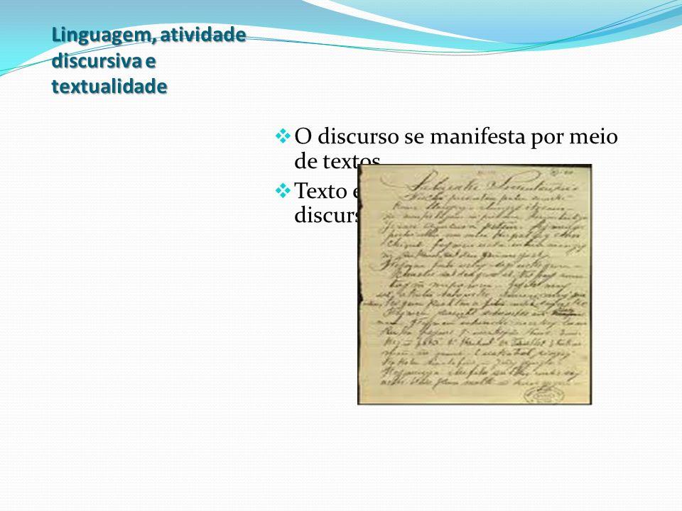 Linguagem, atividade discursiva e textualidade