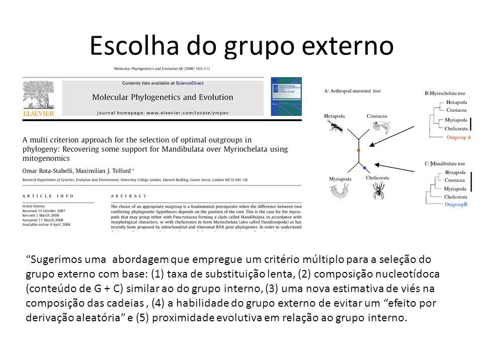 Escolha do grupo externo