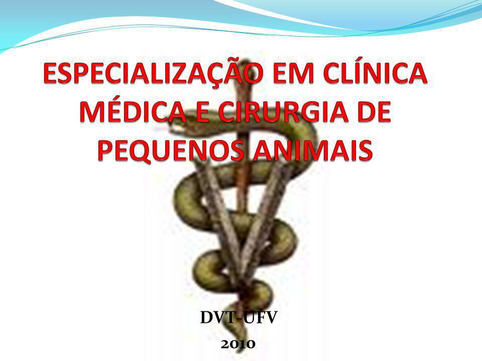ESPECIALIZAÇÃO EM CLÍNICA MÉDICA E CIRURGIA DE PEQUENOS ANIMAIS