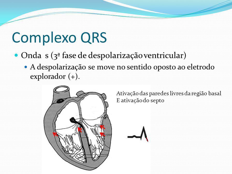 Complexo QRS Onda s (3ª fase de despolarização ventricular)