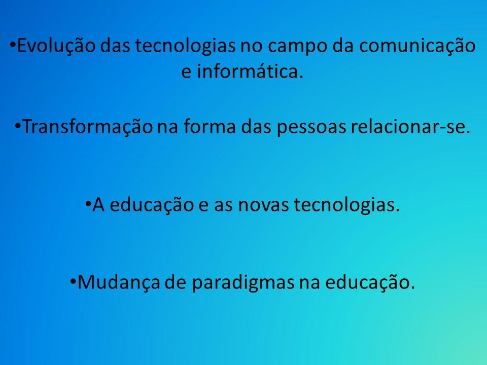 Evolução das tecnologias no campo da comunicação e informática.