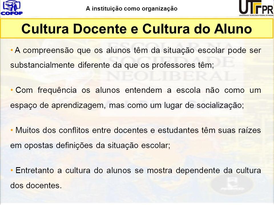 Cultura Docente e Cultura do Aluno