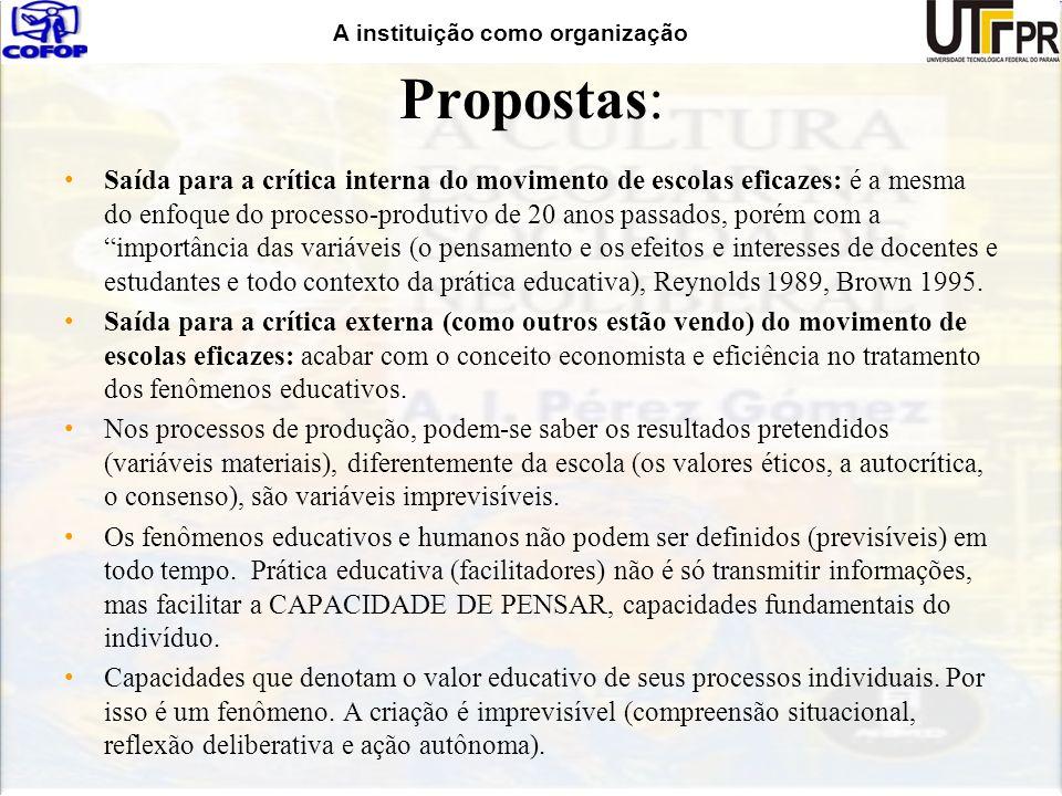 Propostas: