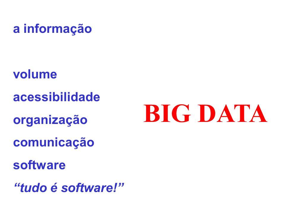 BIG DATA a informação volume acessibilidade organização comunicação