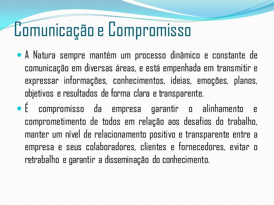 Comunicação e Compromisso