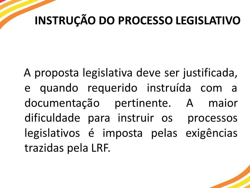 INSTRUÇÃO DO PROCESSO LEGISLATIVO