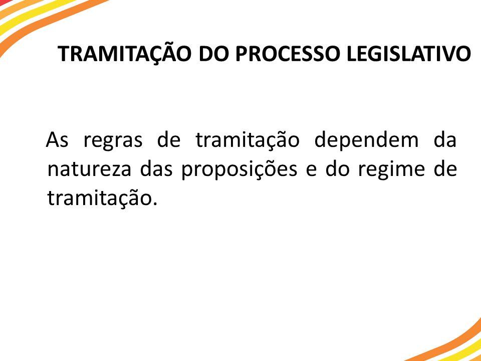 TRAMITAÇÃO DO PROCESSO LEGISLATIVO