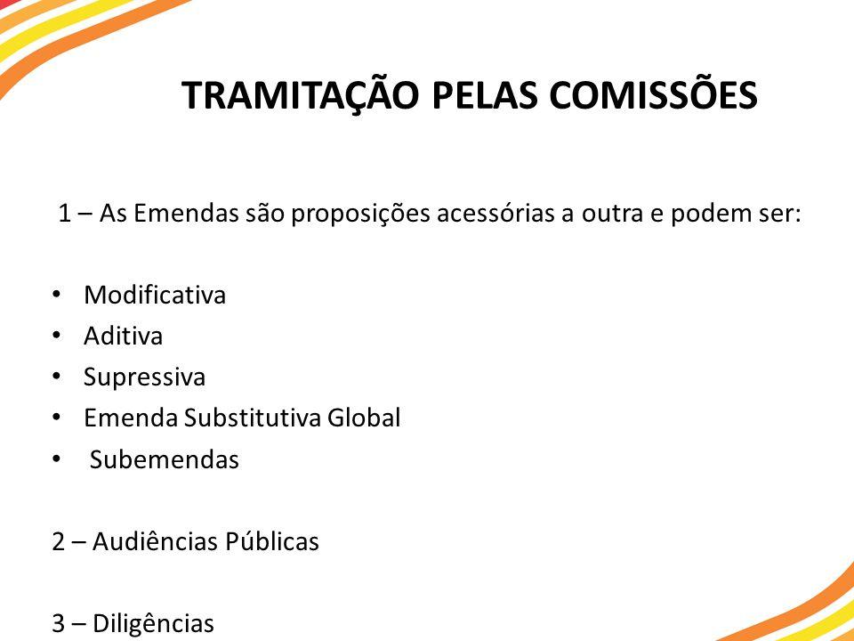 TRAMITAÇÃO PELAS COMISSÕES