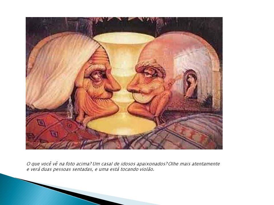 O que você vê na foto acima. Um casal de idosos apaixonados