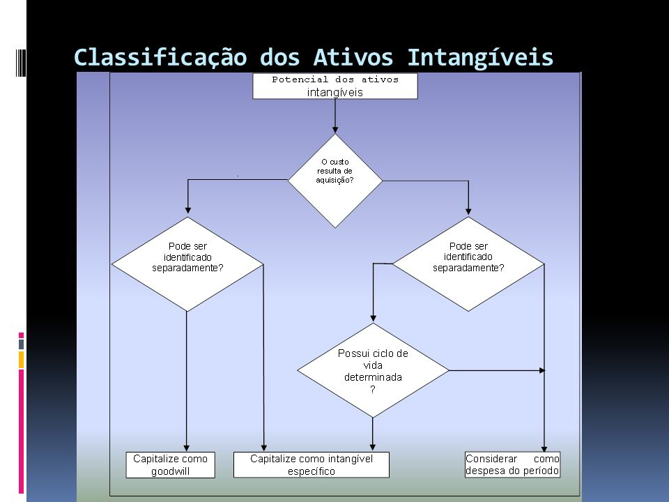 Classificação dos Ativos Intangíveis
