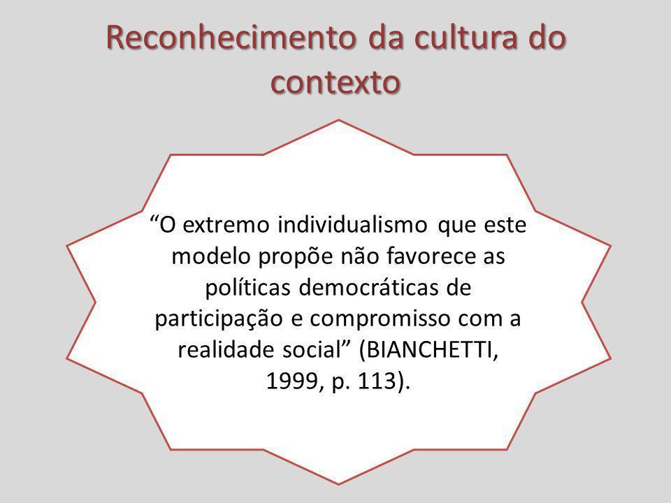 Reconhecimento da cultura do contexto