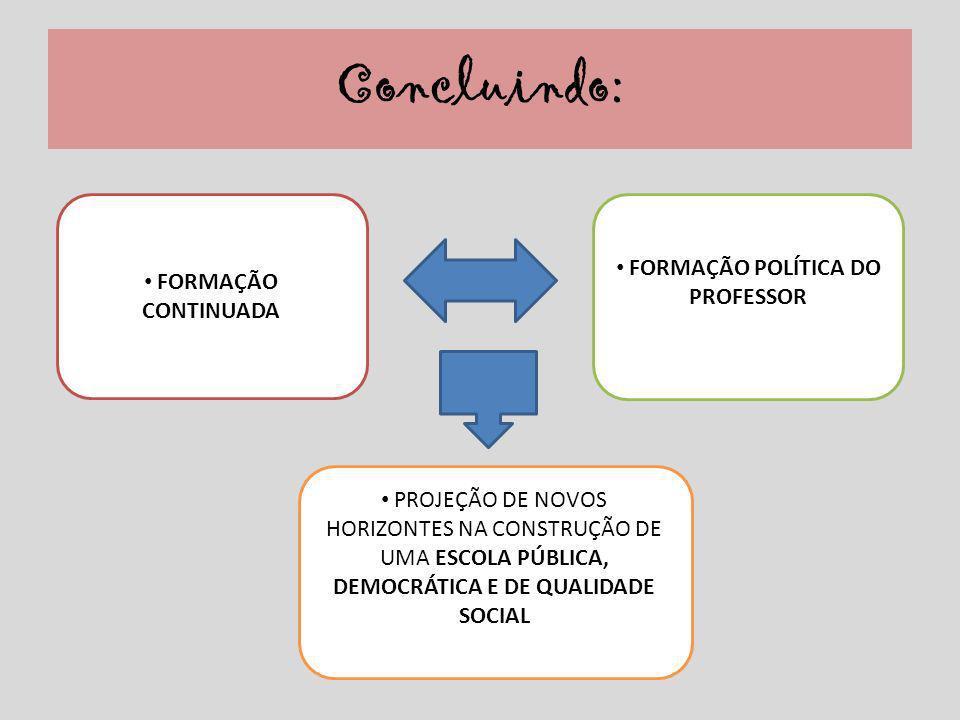 FORMAÇÃO POLÍTICA DO PROFESSOR