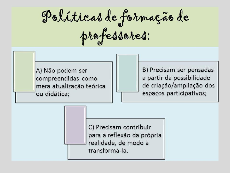 Políticas de formação de professores:
