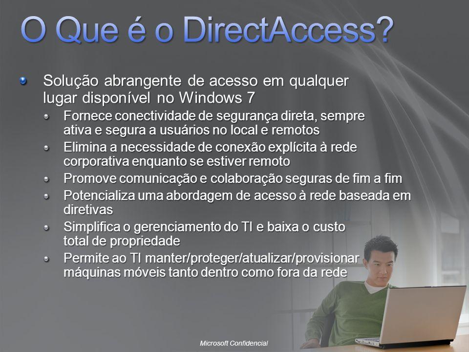 O Que é o DirectAccess Solução abrangente de acesso em qualquer lugar disponível no Windows 7.