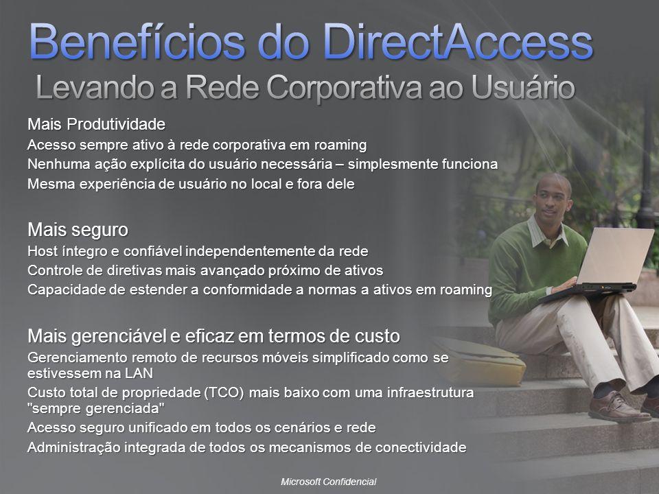 Benefícios do DirectAccess Levando a Rede Corporativa ao Usuário