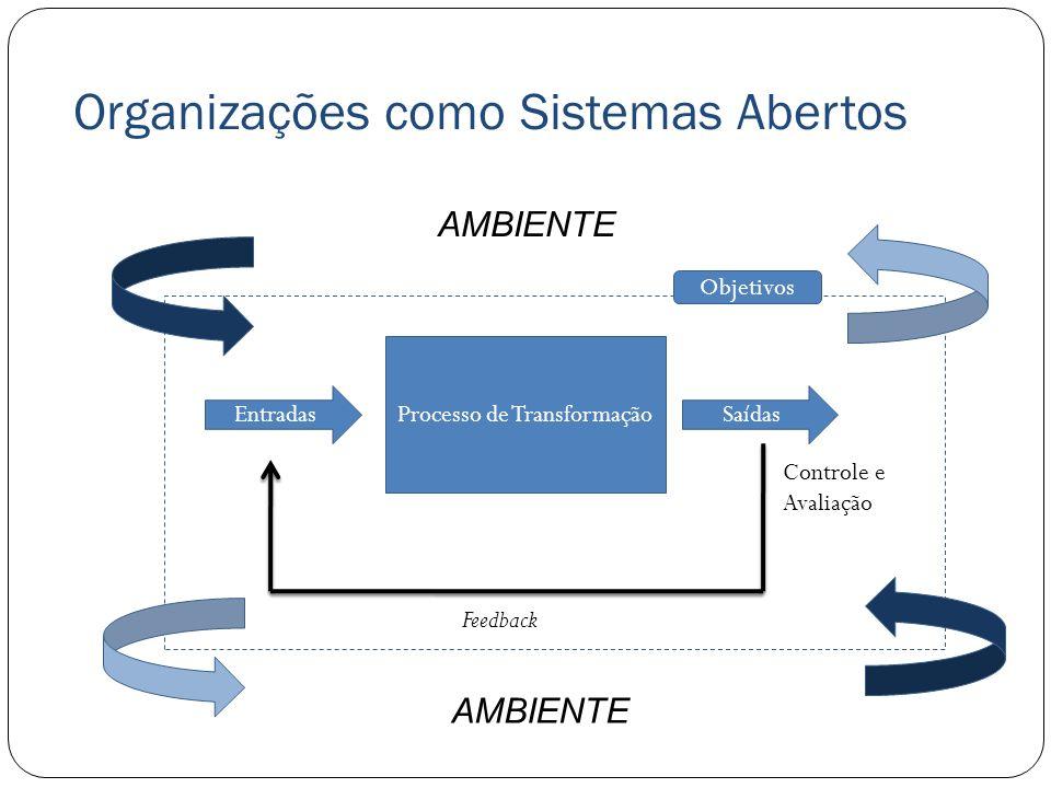 Organizações como Sistemas Abertos