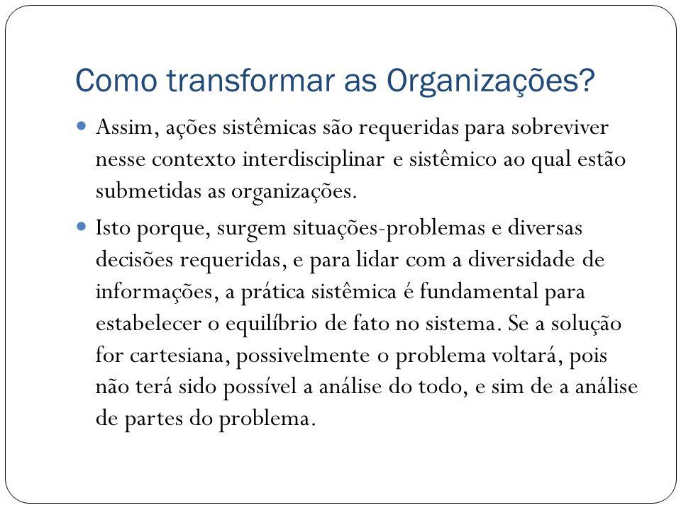 Como transformar as Organizações