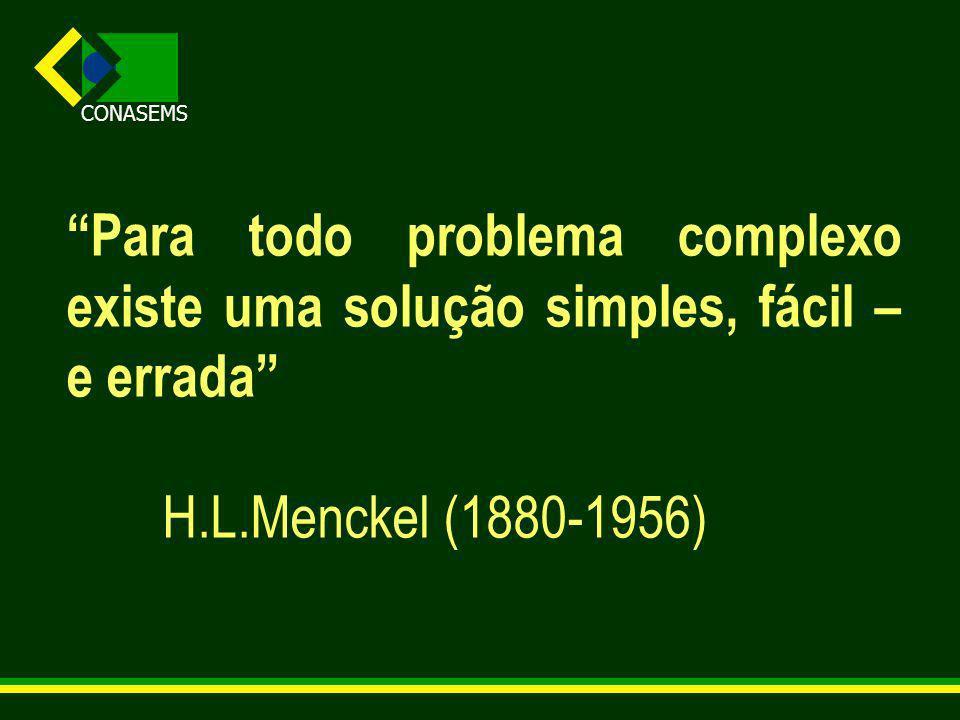 Para todo problema complexo existe uma solução simples, fácil – e errada