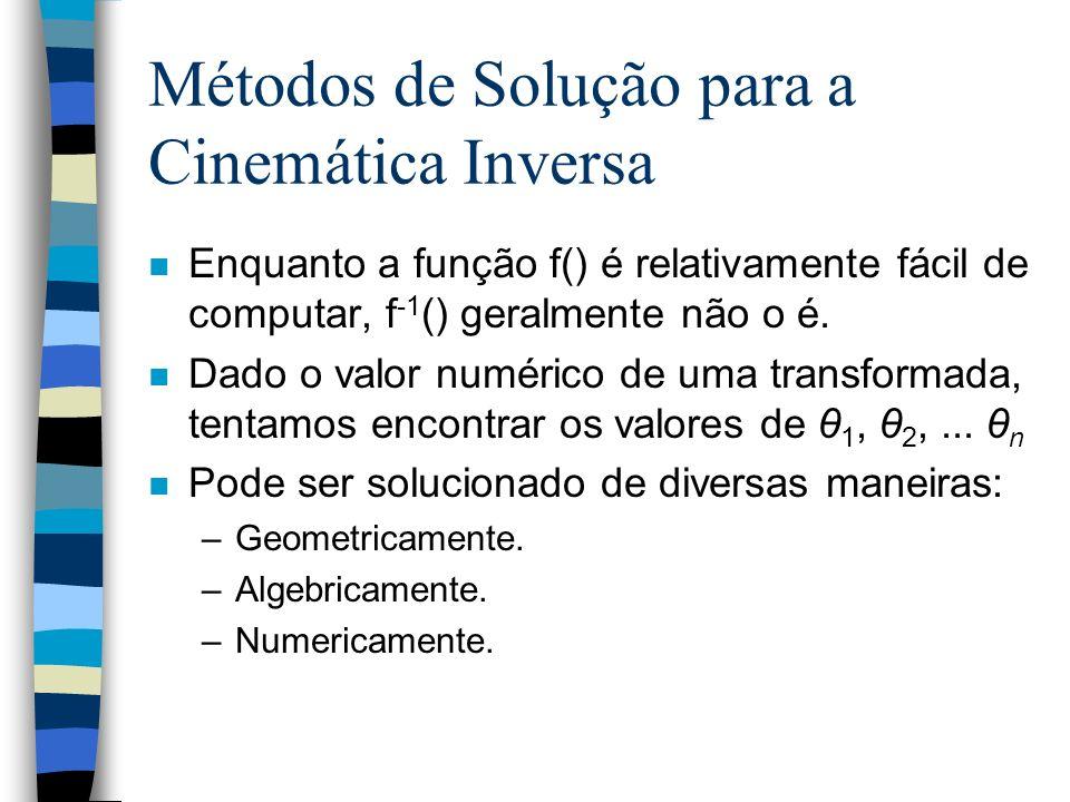 Métodos de Solução para a Cinemática Inversa