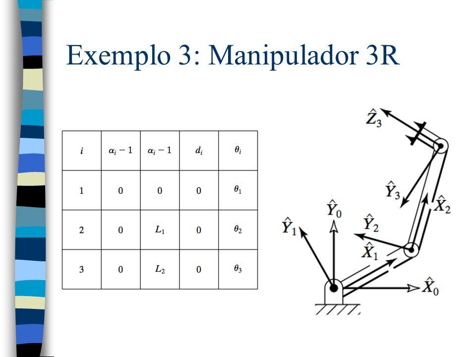 Exemplo 3: Manipulador 3R