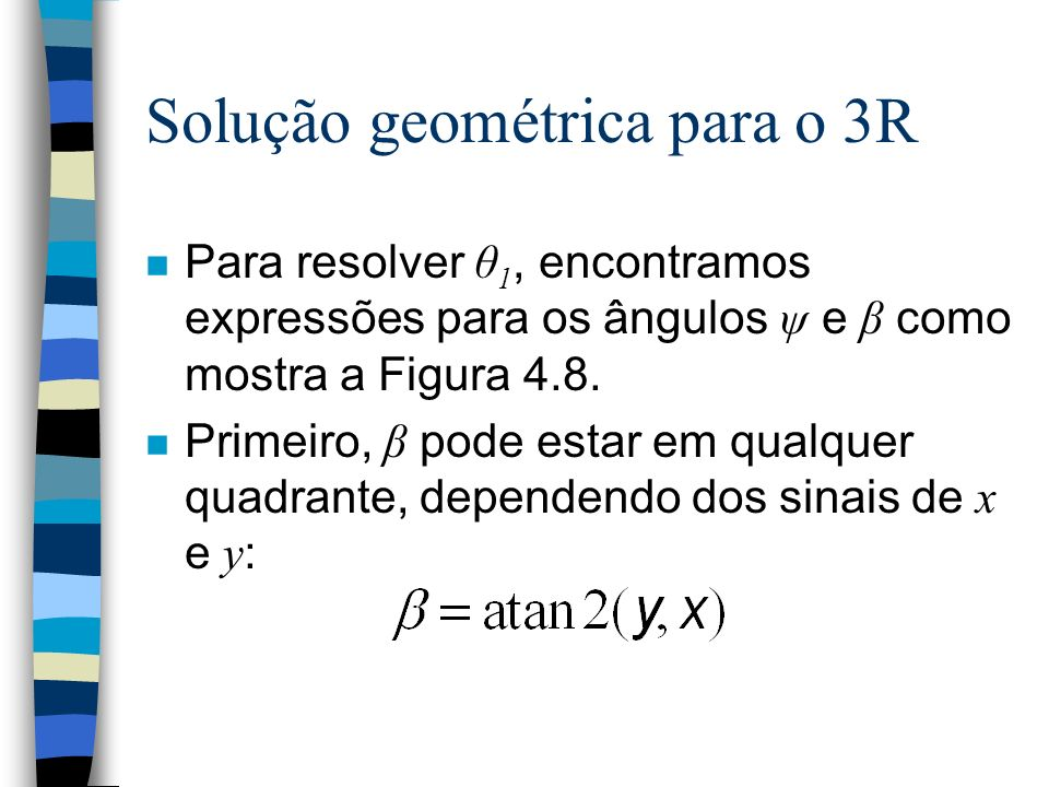 Solução geométrica para o 3R