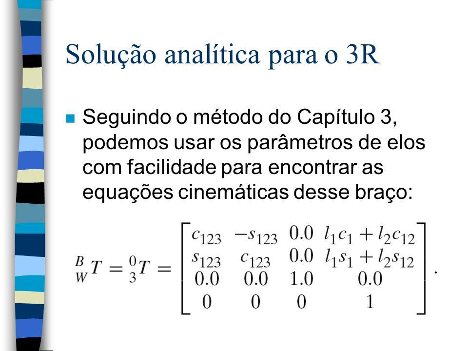 Solução analítica para o 3R