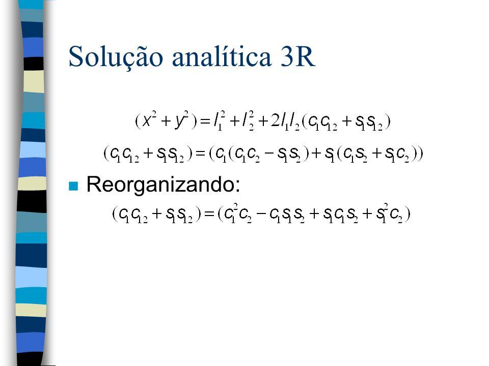Solução analítica 3R Reorganizando: