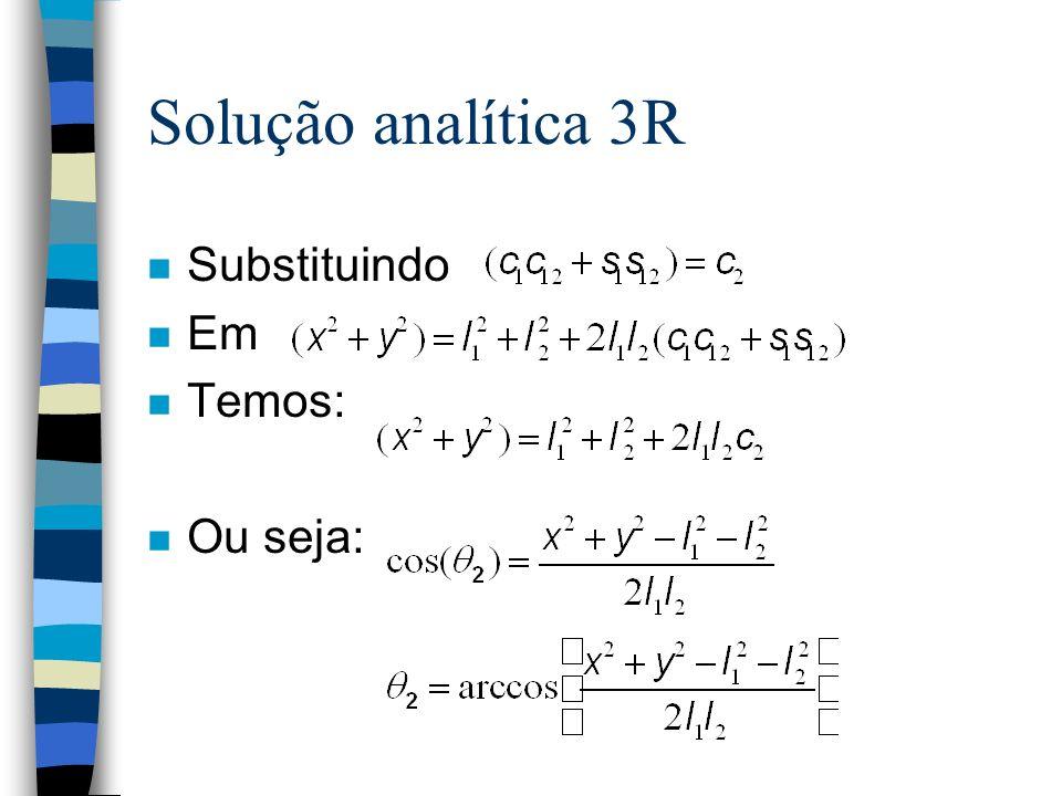 Solução analítica 3R Substituindo Em Temos: Ou seja: