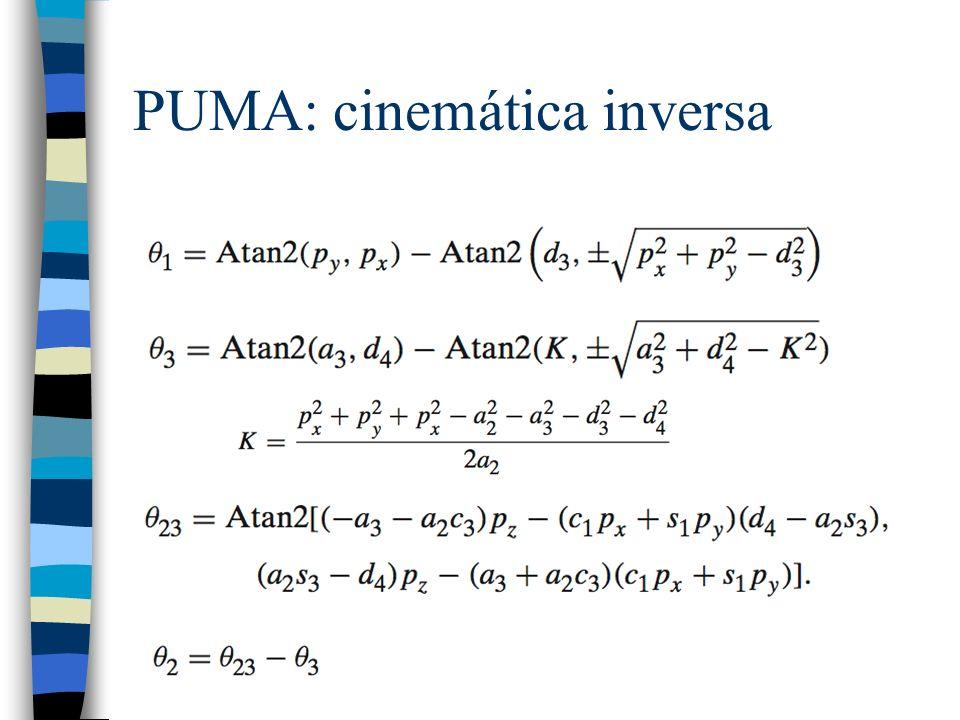 PUMA: cinemática inversa