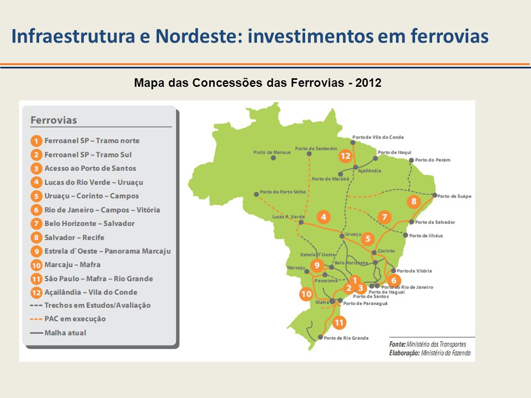 Infraestrutura e Nordeste: investimentos em ferrovias