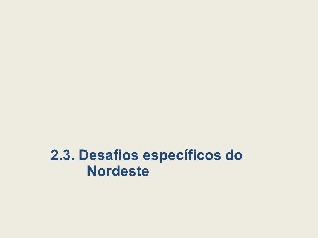 2.3. Desafios específicos do Nordeste