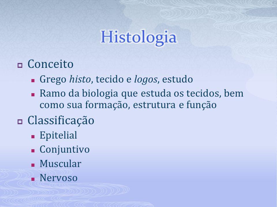 Histologia Conceito Classificação Grego histo, tecido e logos, estudo