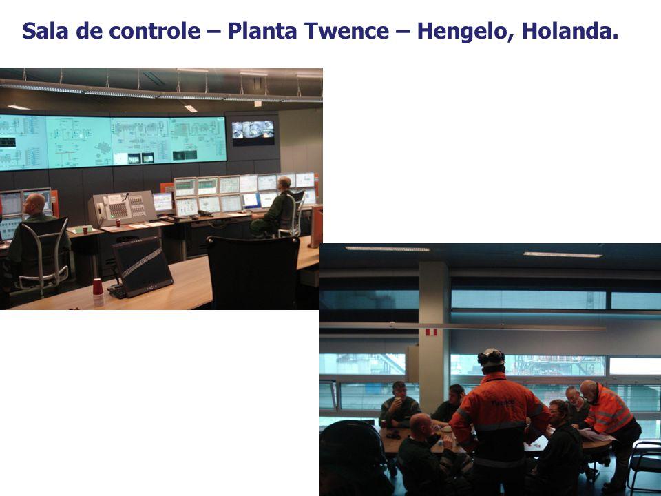 Sala de controle – Planta Twence – Hengelo, Holanda.