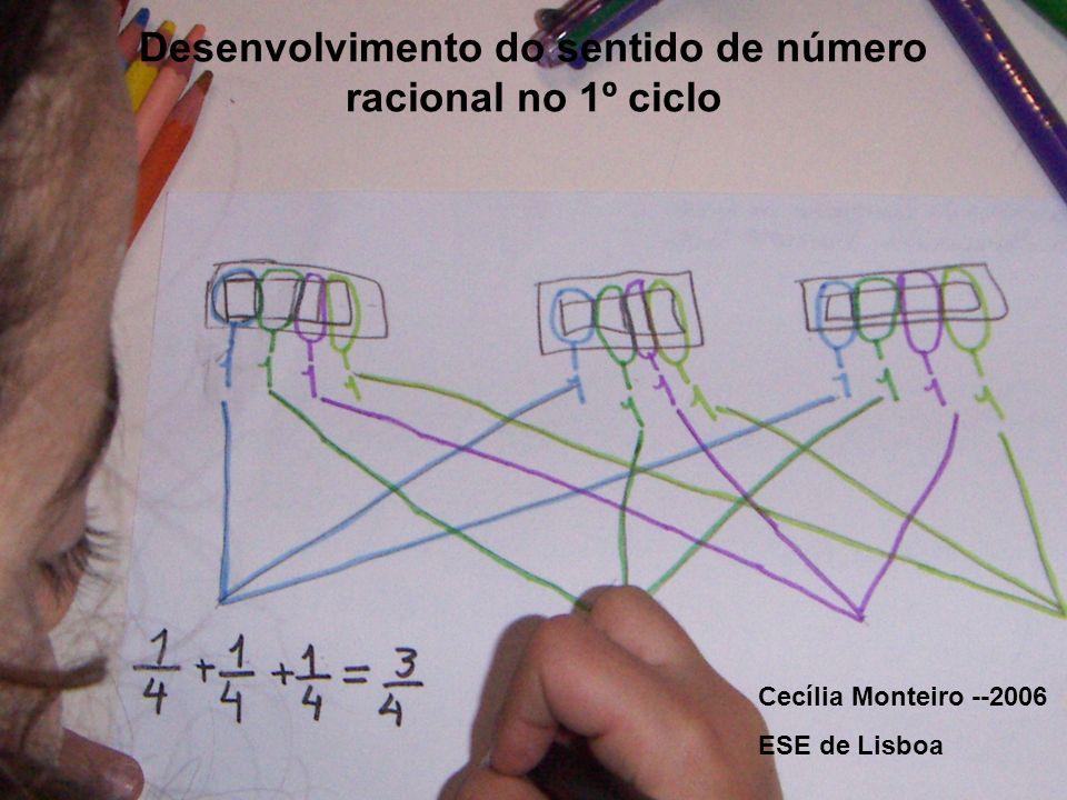 Desenvolvimento do sentido de número racional no 1º ciclo