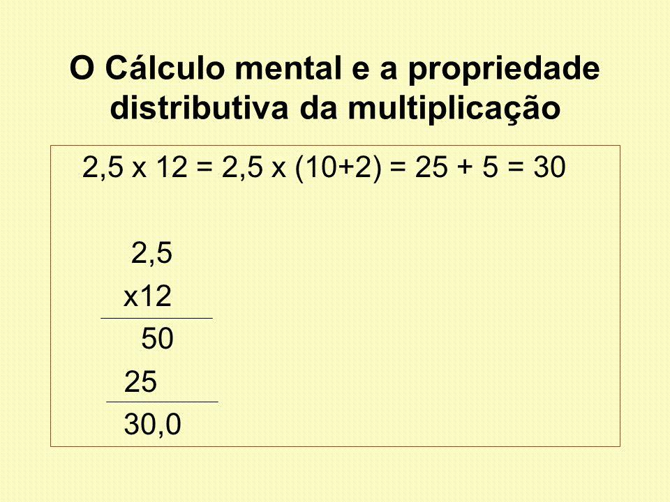 O Cálculo mental e a propriedade distributiva da multiplicação