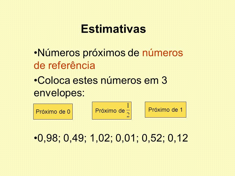 Estimativas Números próximos de números de referência