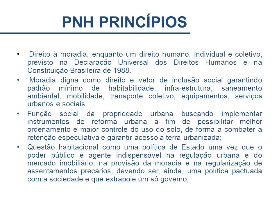 PNH PRINCÍPIOS
