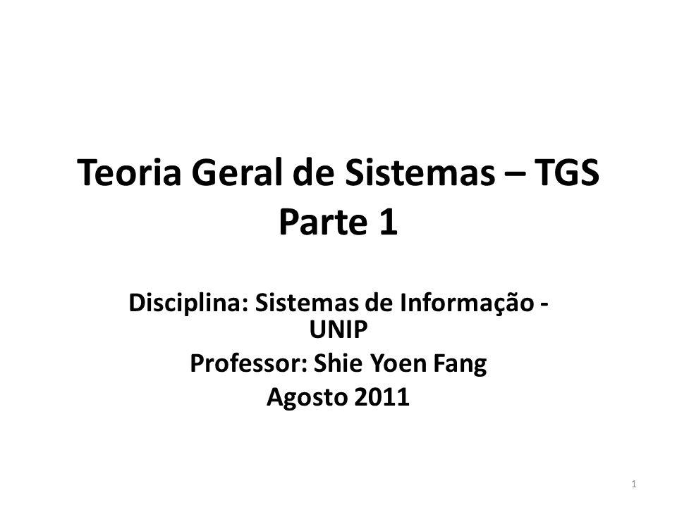Teoria Geral de Sistemas – TGS Parte 1
