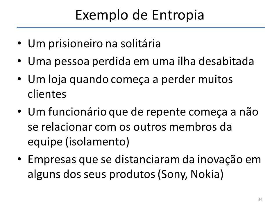 Exemplo de Entropia Um prisioneiro na solitária