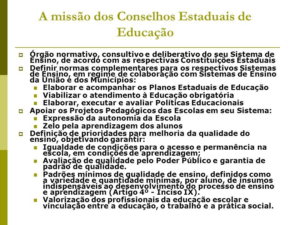 A missão dos Conselhos Estaduais de Educação