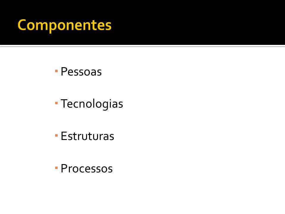 Componentes Pessoas Tecnologias Estruturas Processos