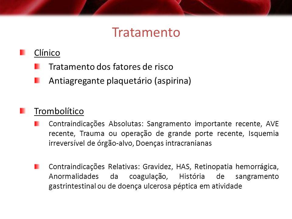 Tratamento Clínico Tratamento dos fatores de risco
