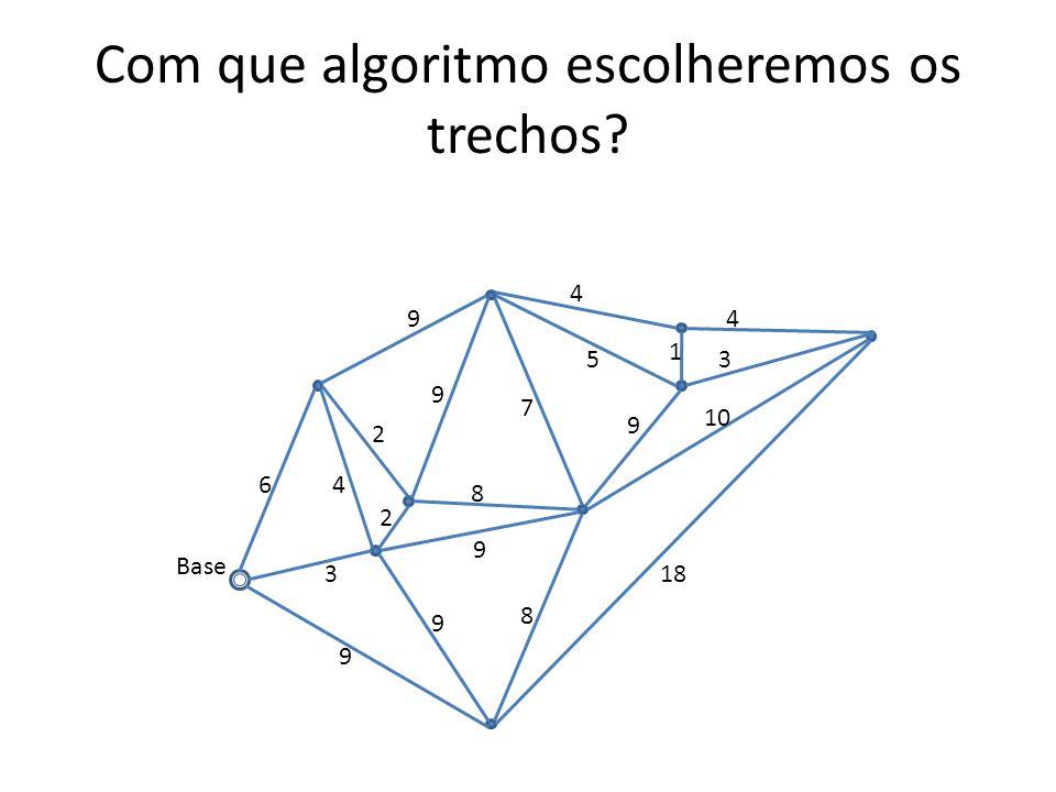 Com que algoritmo escolheremos os trechos