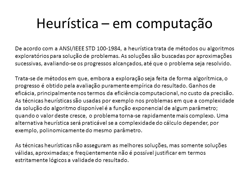 Heurística – em computação