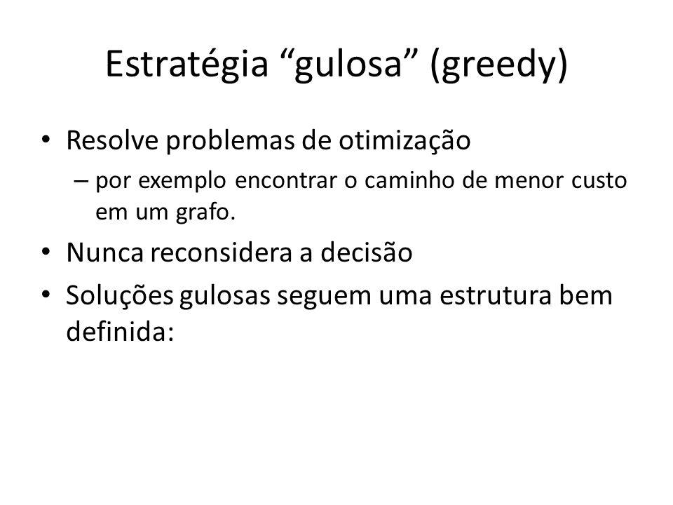 Estratégia gulosa (greedy)
