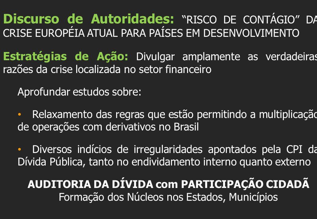 Discurso de Autoridades: RISCO DE CONTÁGIO DA CRISE EUROPÉIA ATUAL PARA PAÍSES EM DESENVOLVIMENTO
