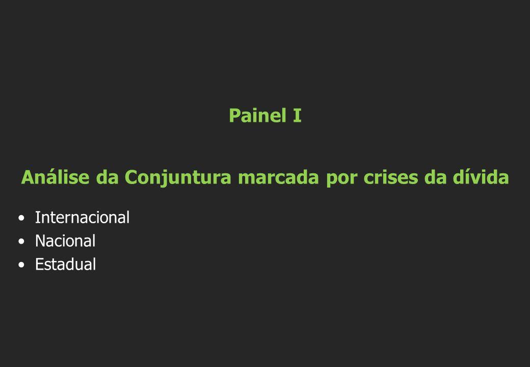 Painel I Análise da Conjuntura marcada por crises da dívida