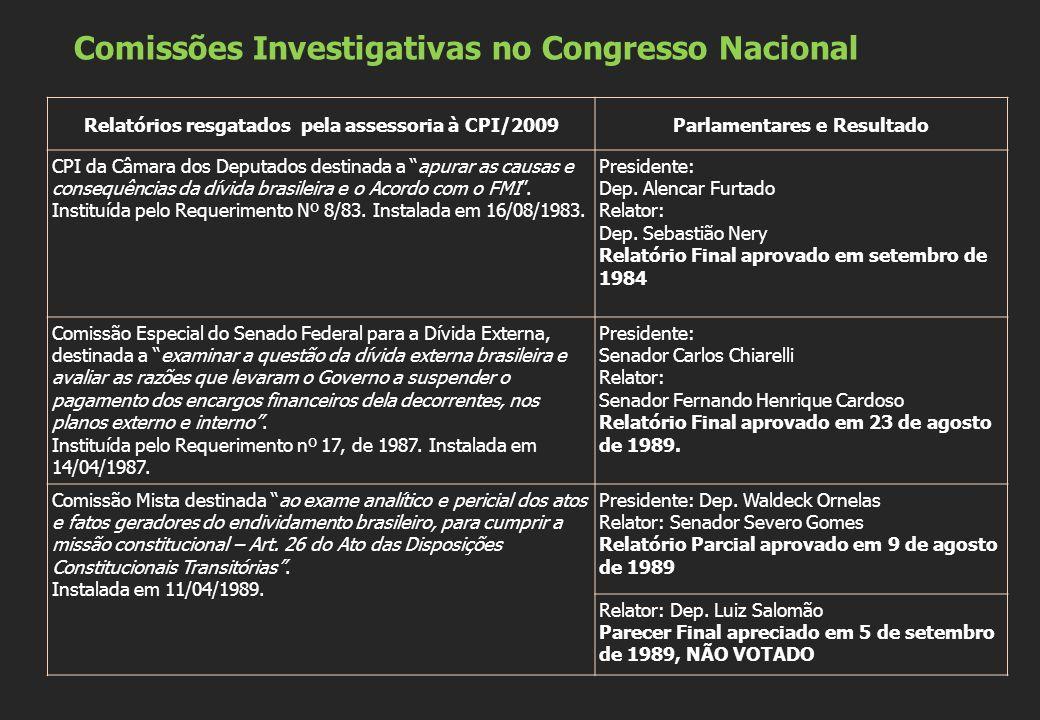 Comissões Investigativas no Congresso Nacional