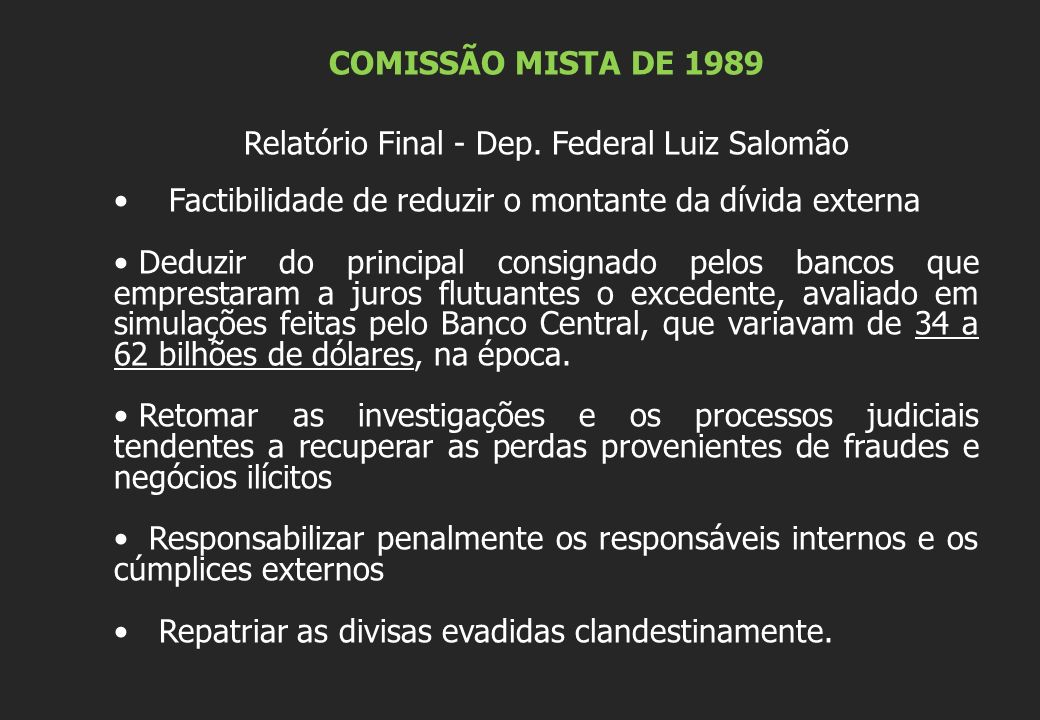 Relatório Final - Dep. Federal Luiz Salomão