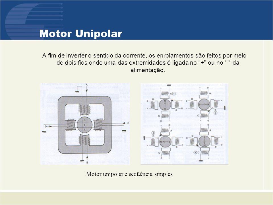 Motor unipolar e seqüência simples
